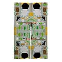 Door Curtain Splice 魔女の研究室 和風戸口カーテンタペストリー居酒屋ショップルームエントランスパーティションリネン印刷、86x143cm