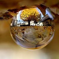 H&D 100mm 多色のクリスタルボール 水晶玉 スタンド付き 装飾品 プレゼント インテリア 置く物 (透明)