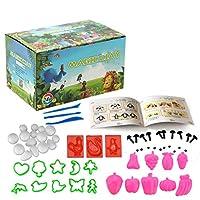 Plasticineクレイ、24色のDIYのポリマークレイセット、成形されたSculpeyツールの付属品は、子供のための最高のギフトです