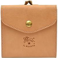 [名入れ可] (イルビゾンテ) IL BISONTE 財布 がま口 二つ折り C0423 本革 レザー ウォレット