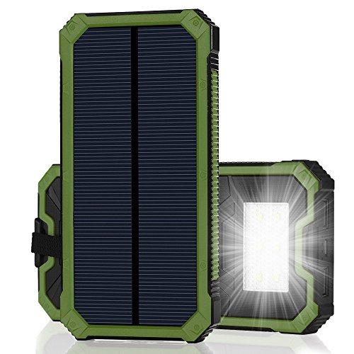 モバイルバッテリー ソーラーチャージャー15000mAh