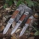 MOSSY OAK 3本組 折りたたみナイフ フォールディングナイフ サバイバル 木製ハンドル 切れ味良い