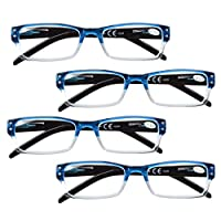 BFOCO Reading Glasses 4 Pairs for Women Men Reading Include Reading Sunglasses