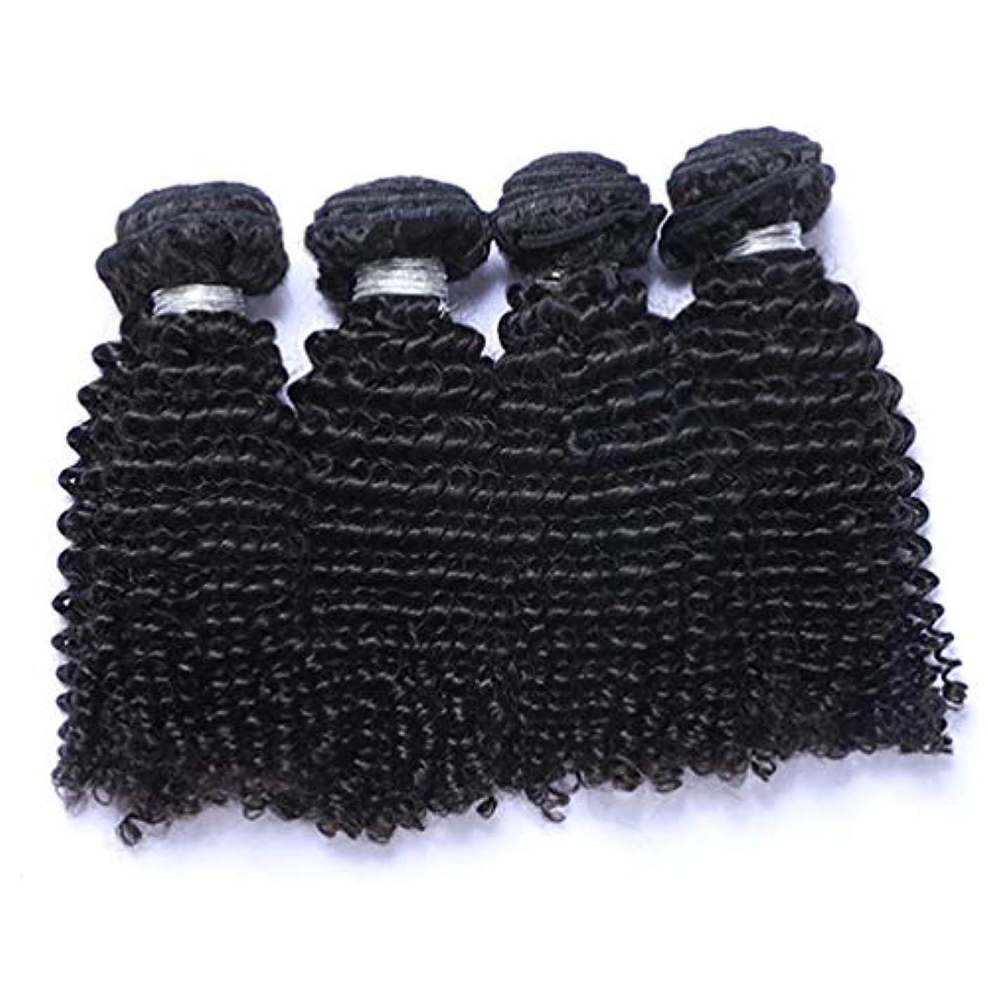 石灰岩応援する動的髪織り未処理ブラジルディープカーリーヘアバンドル本物の人間の髪バンドルバージンブラジル髪バンドル1ピース/パックナチュラルカラー