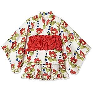 [タキヒヨー] 椿柄浴衣風3点セット ガールズ 342447204 アカ 日本 120 (日本サイズ120 相当)