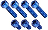 DURA-BOLT(デュラボルト) タンクキャップボルト アルミ 7本セット ブルー SV400/650/INAZUMA/TL1000/GSXR1000/GS1200SS/BANDIT1200(00-)/GSX1300R -07/GSX1400 DBT003/2B