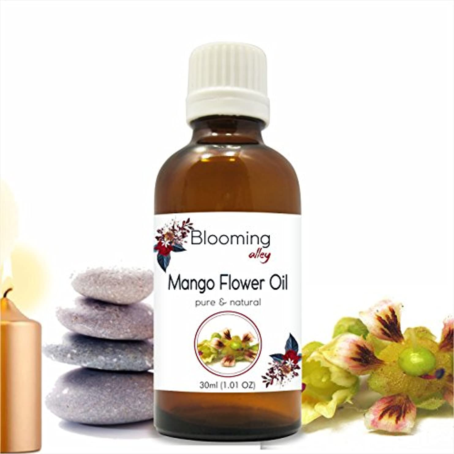 ラオス人ネーピア害虫Mango Flowers Oil (Magnifera Indica) Essential Oil 30 ml or 1.0 Fl Oz by Blooming Alley