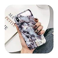 幾何学的な大理石のテクスチャー電話ケースiPhone 11 X XR XS Max 11 Pro Max Soft IMDケースカバーiPhone 6 6S 7 8 Plus装着ケース,For iPhone XR,AC8058