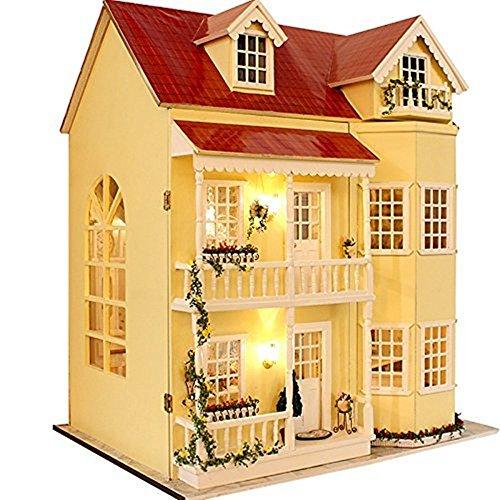 Flever手動クリエイティブ家ドールハウスミニチュアDIYキットwith家具とカバーfor Romanticアートワークgift-great Villa ( Fairy Homeland )