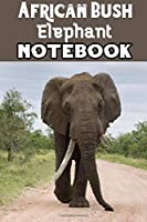 African Bush Elephant: Blank Lined Gift notebook For African Bush Elephant lovers
