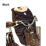 [レイコム]reicom 【後付け前用】あったかプラス!子供乗せ自転車 防寒フットマフ/ブラック