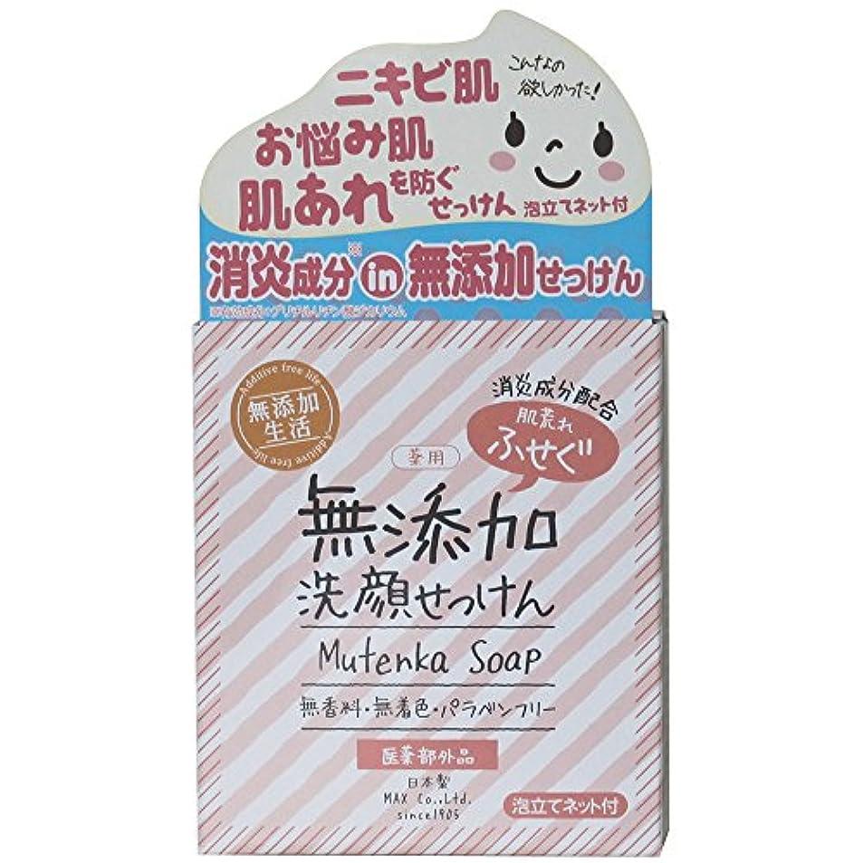 肌荒れ防ぐ薬用無添加 洗顔石けん 80g
