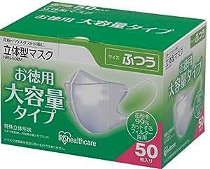 アイリスオーヤマ マスク 立体 ふつう 50枚入 NRN-50RM