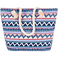 Women Canvas Handbag Tote Bag Shoulder Bag Summer Beach Carry Bag
