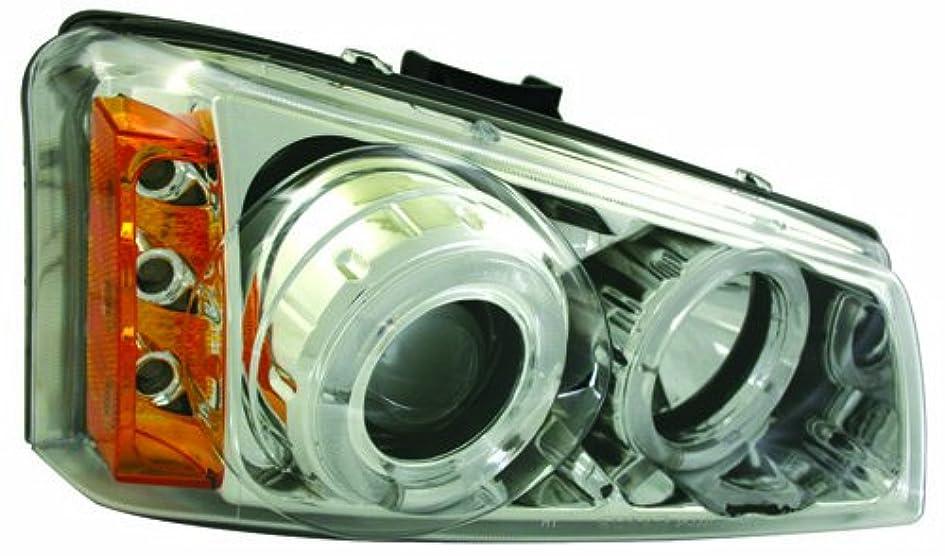 アシスタント水ヒギンズIPCW CWS-337C2 Chevrolet Silverado 2003 - 2006 Head Lamps, Projector With Rings Chrome