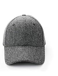 帽子 女性 秋冬 新製品 野球帽 キャップ カップル 暖かく保つ ファッション ハット (Color : Dark gray)
