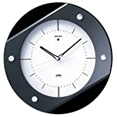 SEIKO CLOCK(セイコークロック) 電波掛け時計 ツイン・パ シンプル 木枠 ブラック KS270K