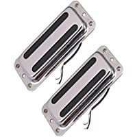Fenteer 2個 ダブルコイル ハムバッカー ブリッジピックアップ 取り付けネジ ネックピックアップ ギターアクセサリー