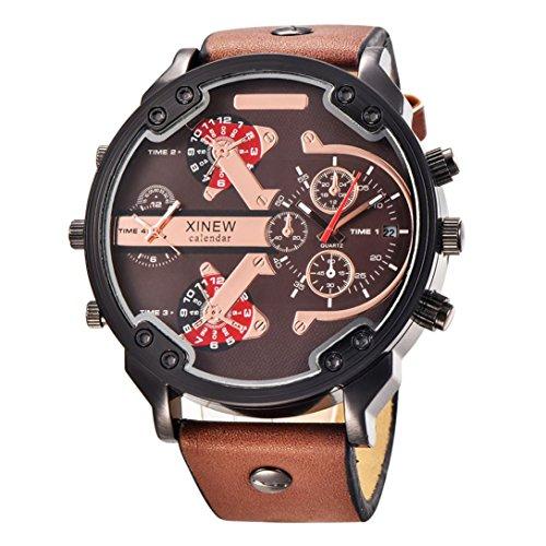 人気 かっこいい 歯車 カレンダーつき 腕時計 メンズ ウォ...
