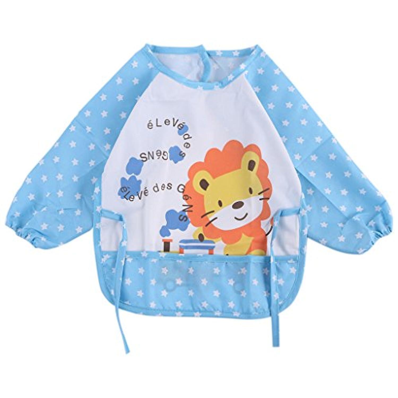 8 # cute-baby-toddler-waterproof-long-sleeve-bibs-children-kids-feeding-smock-apron