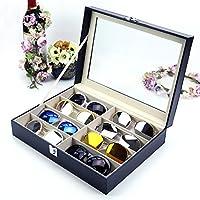 TUYU 8 Slot Sunglass Organizer PU Large Display Eyeglasses Eyewear Storage Box for Collector HZ0010