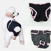 PETSOLA ペット用生理パンツ おむつ 犬用下着 衛生用品 コットン製 快適 実用的 全5サイズ - XL