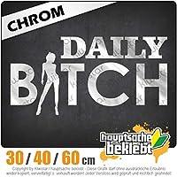 Daily Bitch - 3つのサイズで利用できます 15色 - ネオン+クロム! ステッカービニールリアウインドウ