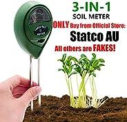 Soil Tester,Home-Mart Soil PH Meter Soil Moisture Sensor 3 in 1 Soil Test Kit for Moisture, Light & pH Met