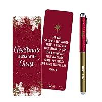 クリスマスBeginsジョン3: 16with Christギフトペンwithブックマーク
