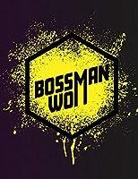 Boss Woman: Feminist Art Notebook: Yellow Splatter