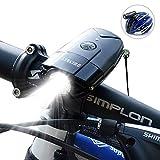 SHENKEY LED自転車ライト 2000mah 1200ルーメン USB充電 IP65防水 軽量 ブラック