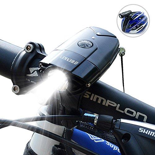 SHENKEY 自転車ライト 2000mah 1000 ルーメン 自転車前照灯 ヘッドライト 高輝度 USB充電 タッチスイッチ I...