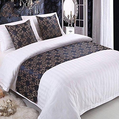 ファッションホーム-ヨーロッパスタイル フラワー エレガント ベッドスロー ベッドランナー セミダブ...