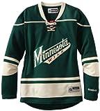 リーボック ジャージ 空白のレディースミネソタワイルドReebok NHL Premierグリーンホームジャージー、サイズMedium