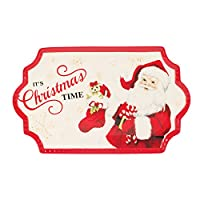 Letters to Santa Collection, Cookie Platter, Red/White by Fitz and Floyd