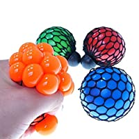 Teanfa Novelty Squeezing Cute Soft Rubber Vent Grape Ball Decompression Hand Wrist Toy