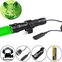 Ulako Green or red light LED Coyote Hog Pig Varmint Predator Hunting Light Flashlight with Remote Pressure Switch [並行輸入品]