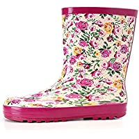 MEIGUIshop Rain Boots - Fashion Flowers Waterproof Floral rain Boots Overshoes