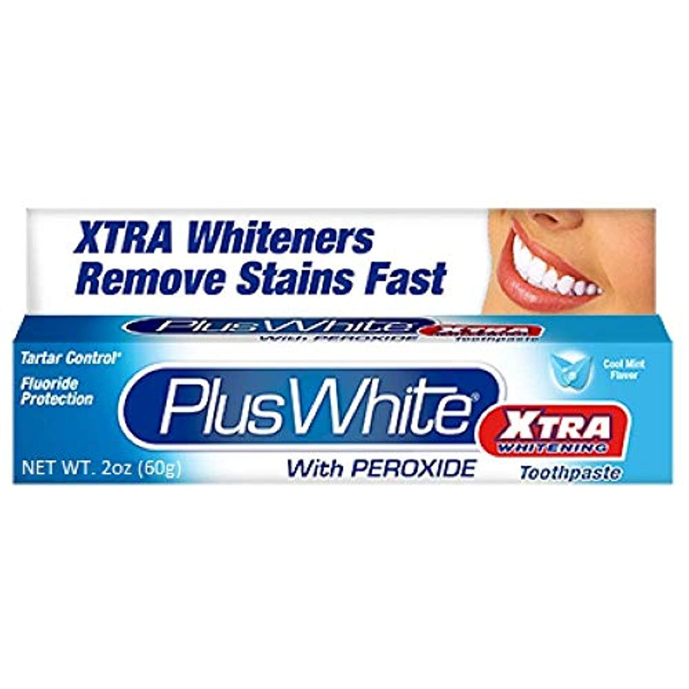 ばかげている確実ペレグリネーションPlus White 過酸化物2オンスハミガキエクストラホワイトニングホワイトニング(4パック)