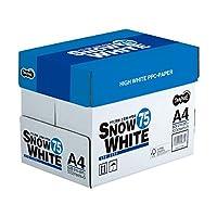 (まとめ) TANOSEE PPC用紙 SNOW WHITE 75 A4 1箱(2500枚:500枚×5冊) 〔×10セット〕