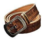 Happylifehere ベルト メンズ 牛革 ビジネスマン クラシック バックル2種類 銅+チタン合金 ハイクオリティ (130cm, チタン合金)