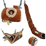 JanYoo Hamster Hammock Cage Accessories Hanging Fleece Bed Swing Bag for Sugar Glider Guinea Pig (3 pcs)