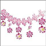桜装飾 和桜ガーランド L180cm / 飾り ディスプレイ 春  2298