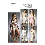 【voguepatterns】ランジェリー・キャミソール・バスローブ型紙 サイズ:US6-8-10-12-14