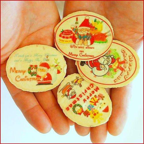 サンタさんのクリスマスプレゼントせんべい12枚セット(ピロ個装無し)
