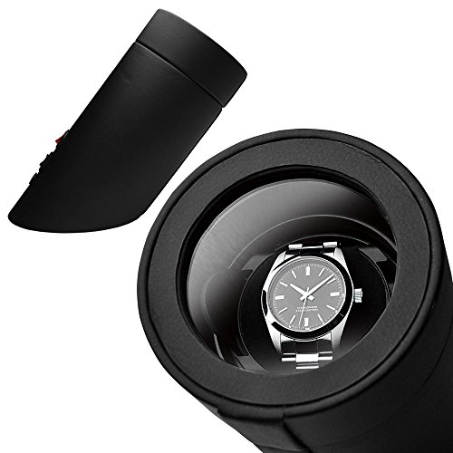 高級ワインディングマシン・ウォッチワインダー マブチモーター・時計・静音設計・1本巻・自動巻き・レディース、メンズ時計対応 ワインディングマシーン マジェスティ (ブラック)