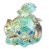 G-HOUSE(ジーハウス) 高級細工ガラス製 灰皿 龍 HM-0217