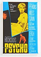Psycho Movie Poster Fridge Magnet (2 x 3 inches) by Blue Crab Magnets