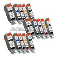 DS 15 New Ink Cartridges For Canon CLI8 PGI5 Pixma MP500 [並行輸入品]