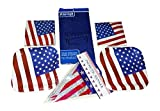 Patriotic July Fourth Memorial Day Party Supplies Bundle: 70 Piece (Serves 28 People) by Axiom